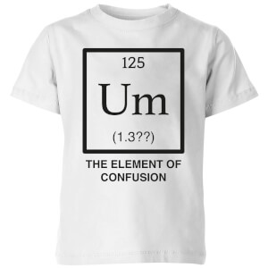 The Element Of Confusion Kids' T-Shirt - White