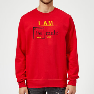 I Am Fe Male Sweatshirt - Red