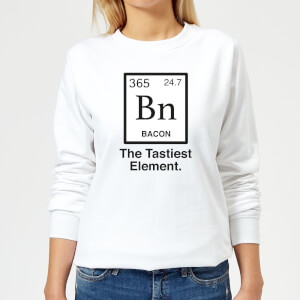 Bacon Element Women's Sweatshirt - White
