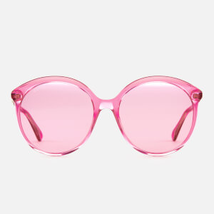 Gucci Women's Polarised Round Frame Sunglasses - Fuchsia