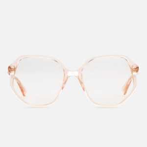 Gucci Women's Clear Oversized Sunglasses - Pink/Transparent