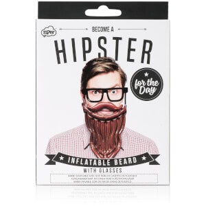 Inflatable Hipster for the Day Beard with Glasses