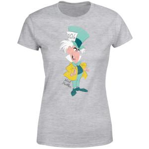 T-Shirt Femme Chapelier Fou Alice au Pays des Merveilles Disney - Gris