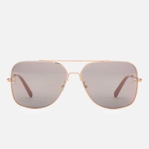 Stella McCartney Women's Aviator Sunglasses - Gold