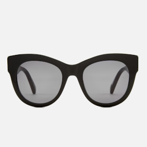 Stella McCartney Women's Falabella Cat Eye Sunglasses - Black/Gold/Grey
