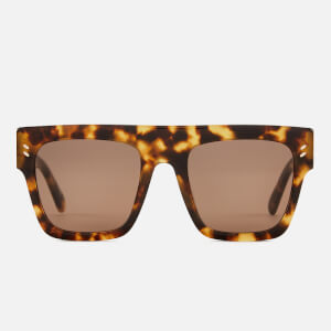 Stella McCartney Women's Square Frame Sunglasses - Avana/Brown