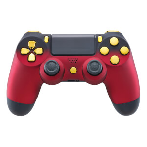 Manette Sans Fil Playstation 4 - Rouge Ombré et Or