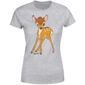 T-Shirt Femme Bambi Disney - Gris