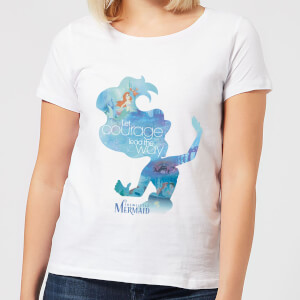 Disney Princess Filled Silhouette Ariel Women's T-Shirt - White