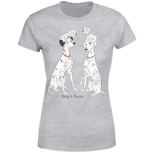 Disney 101 Dalmations Pongo & Perdita Classic Women's T-Shirt - Grey