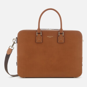 Aspinal of London Men's Mount Street Briefcase Small - Tan