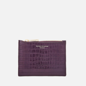 Aspinal of London Women's Essential Pouch Small - Amethyst