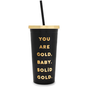 Ban.do Deluxe Sip Sip Tumbler with Straw - You Are Gold