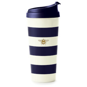 Kate Spade Thermal Mug - Navy Stripe With Bee