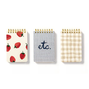 Kate Spade Spiral Notepad - Set Of 3 - Strawberries