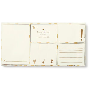 Kate Spade Sticky Note Set - Flamingo Gold Dot