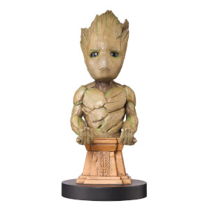 Marvel Guardians Of The Galaxy Collectable Groot 8 Inch Cable Guy Controller & Smartphone Stand from I Want One Of Those