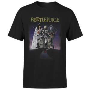 Beetlejuice Distressed Poster T-Shirt - Schwarz