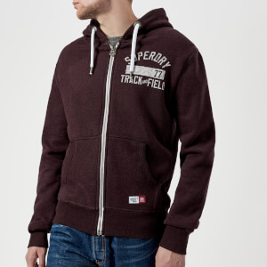 Superdry Men's Trackster Zip Hoody - Autumn Blackberry Marl