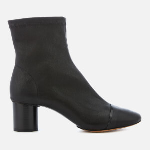 Isabel Marant Women's Datsy Block Heeled Ankle Boots - Black