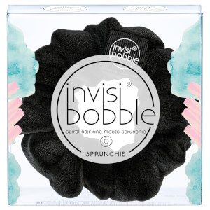 invisibobble Sprunchie Spiral Hair Ring fermacoda in tessuto - True Black