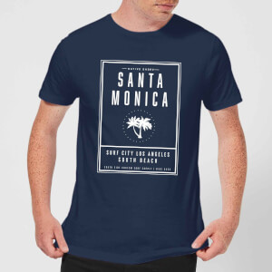 Camiseta Native Shore Santa Monica Surf City - Hombre - Azul marino