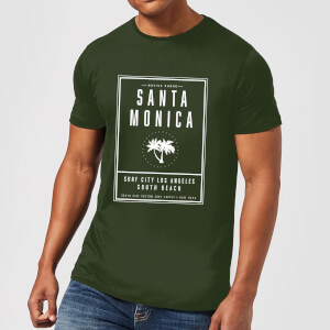 Camiseta Native Shore Santa Monica Surf City - Hombre - Verde oscuro