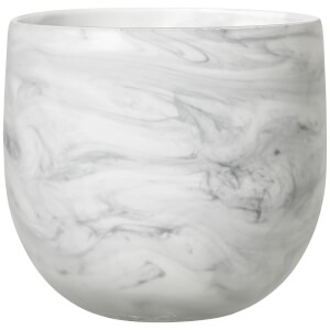 Bloomingville Glass Flowerpot - White