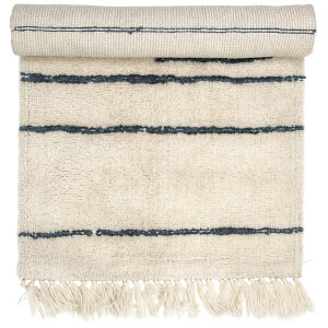 Bloomingville Stripe Wool Rug - Nature - 120cm x 60cm
