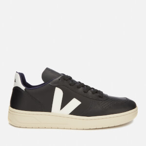 Veja Men's V-10 Leather Trainers - Black/White