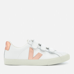 Veja Women's 3-Lock Leather Trainers - Extra White Venus