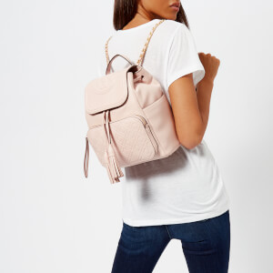 Tory Burch Women's Fleming Backpack - Shell Pink: Image 3