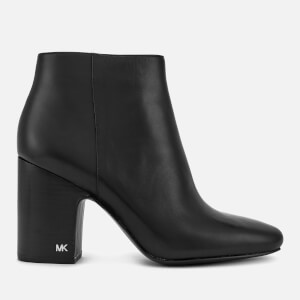 MICHAEL MICHAEL KORS Women's Elaine Leather Heeled Ankle Boots - Black