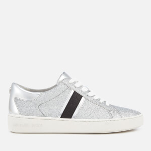 MICHAEL MICHAEL KORS Women's Keaton Stripe Lace Up Trainers - Silver/Black