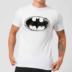 Camiseta DC Comics Batman Logo Sketch - Hombre - Blanco