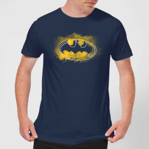 Batman Spray Logo T-Shirt - Navy Blau Blau