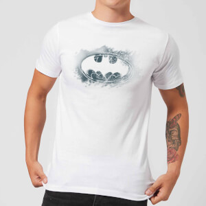 DC Comics Batman Spray Logo T-Shirt in White