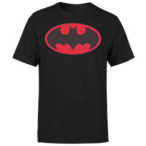 DC Comics Batman Red Logo T-Shirt - Black