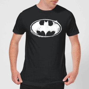 Batman Sketch Logo T-Shirt - Schwarz