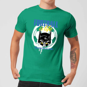 T-Shirt Homme Batman DC Comics - Football Is Life - Vert