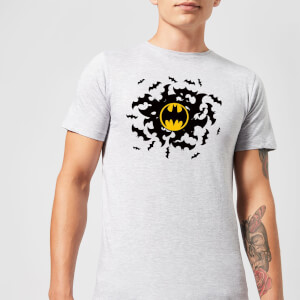 Batman Bat Swirl T-Shirt - Grau