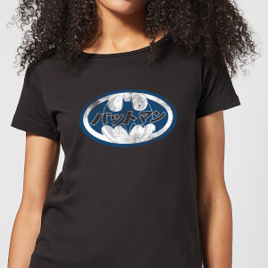 DC Comics Batman Japanese Logo Women's T-Shirt in Black
