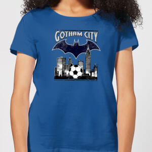 T-Shirt DC Comics Batman Football Gotham City - Royal Blue - Donna