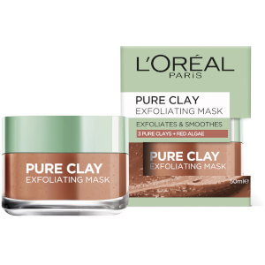 L'Oréal Paris Pure Clay Exfoliates and Smoothes Mask 50ml