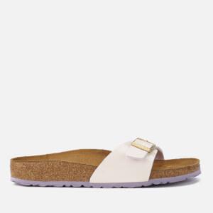 Birkenstock Women's Madrid Patent Slim Fit Single Strap Sandals - Two Tone Cream Pink