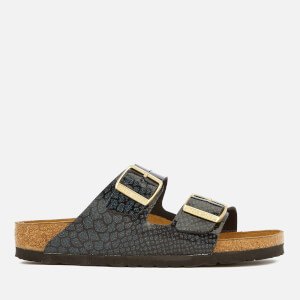 Birkenstock Women's Arizona Slim Fit Double Strap Sandals - Magic Snake Black