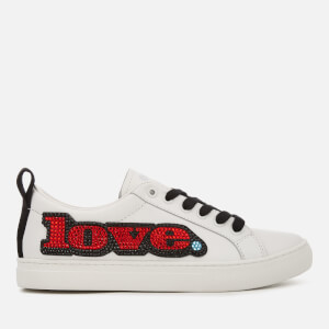 Marc Jacobs Women's Love Embellished Empire Trainers - White/Multi