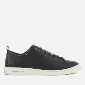 PS by Paul Smith Men's Miyata Leather Cupsole Trainers - Black