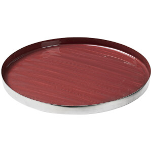 Broste Copenhagen Decorative Sara Round Iron Plate - Canyon Rose