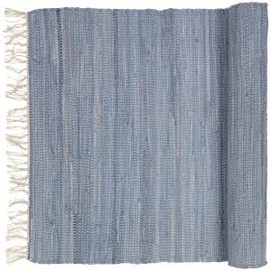 Broste Copenhagen Chindi Cotton Rug - Blue Melange - 60cm x 90cm